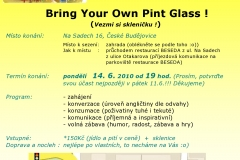 BRING YOUR OWN PINT GLASS party